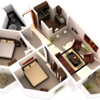Example 2 bedroom layout