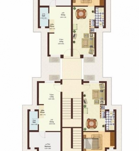 Makadi Type 2 - 1 bedroom Floor plan